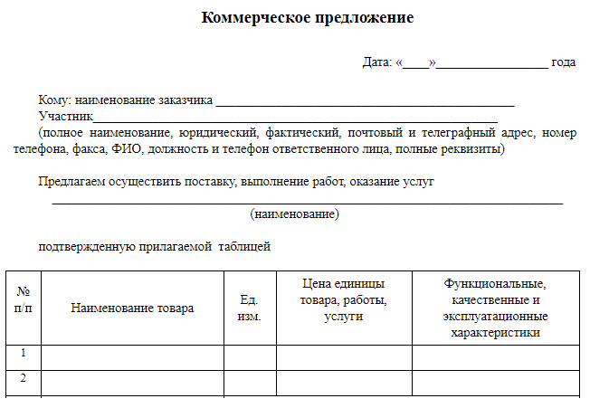 Коммерческое предложение по электронной отчетности куда подавать документы после регистрации ооо