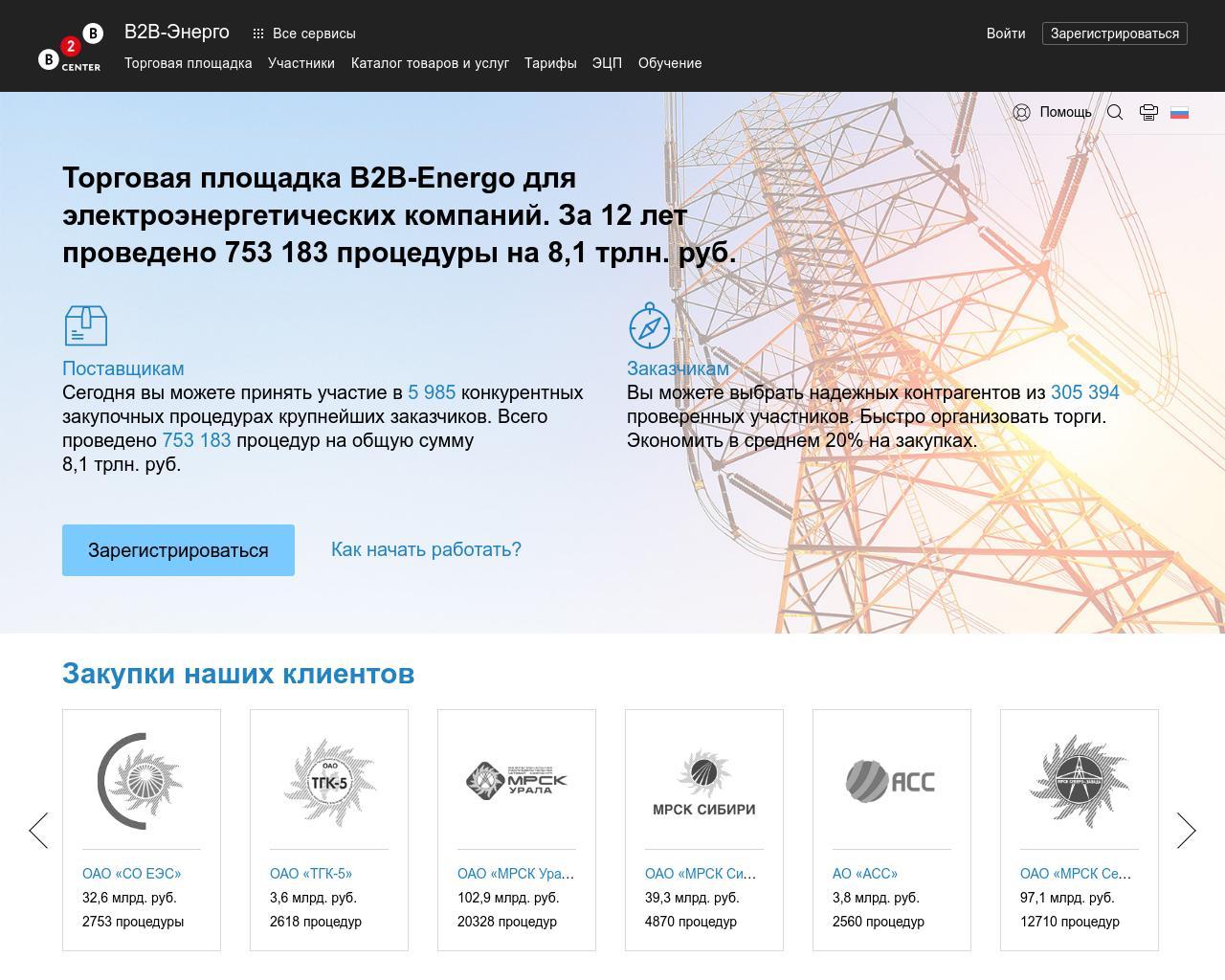 ЭТП В2В-Энерго